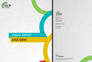 annual report cover ontario institute for cancer research