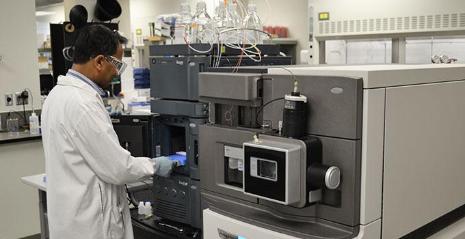 OICR Researcher in the lab